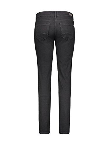 MAC Damen Straight Jeans Carrie Pipe Schwarz (Black D999)