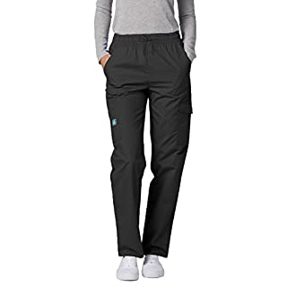 ADAR UNIFORMS Medical Scrub Pants – Women's Tall Hospital Uniform Trousers, Color: PWR | Size: XL