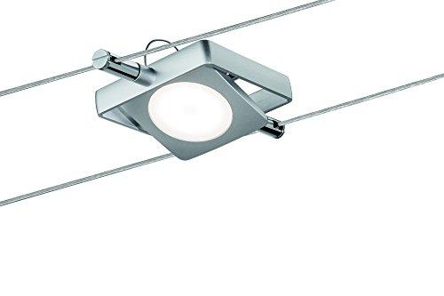 Paulmann Leuchten Paulmann 50112 Smart Wire System Ble Spot Macled 1 x 4W 12V DC Tunable White Bluetooth Seilsytem LED Seilleuchte Einzelspot 501.12, Metall, 4 W, Chrom Matt, 10.2 x 10,2 x 1 cm