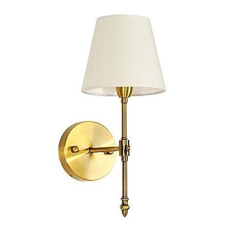 VanMe Noble Et Élégante Finition En Laiton Bronze Appliques Appliques, Lampes Pour La Chambre Et Le Corridor,1Chef 12Cm*39Cm