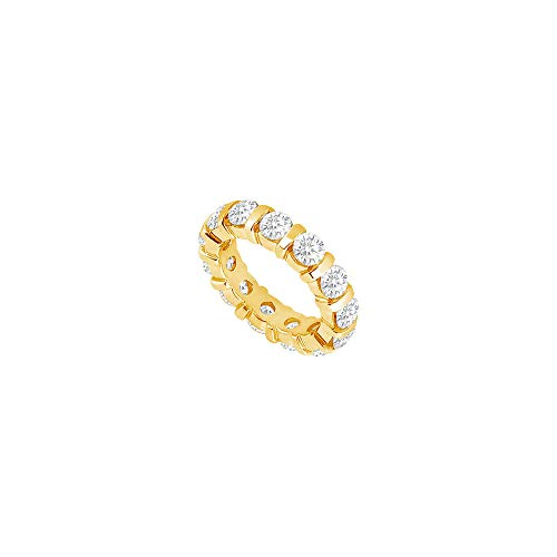 Two Carat Diamond Eternity Band in 18K Yellow Gold Second and Third Wedding Anniversary Jewelry (18 White Wedding Band K Gold)