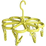 Offspring Flower Shape Baby Clothes Hanger 12 Clips - Green