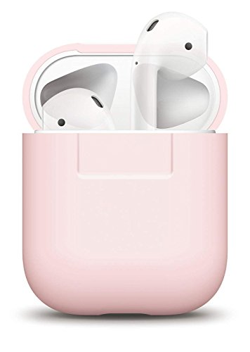 elago Protettiva Custodia in Silicone per Apple AirPods - [Extra Protezione Cover] [Inserimento Perfetto] (Rosa)