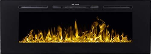 Chimenea eléctrica Majestic 60, (750 W o 1500 W), simulación de fuego...