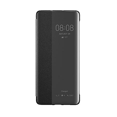 Flip Cover Case (Huawei Booklet Smart View Flip Cover P30 Pro, Schwarz)