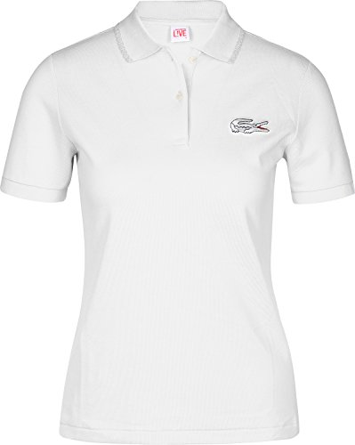 Lacoste L!VE Ribbed Collar W Polo Bianco