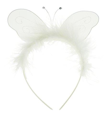 Damen Mädchen Fancy Dress Up Party Fairy Princess Alice Haarband weiß (Fairy Princess Dress Up Kostüm)