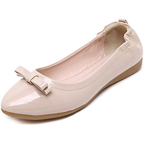 Minetom Bowknot Decorazione Donne Estate Scarpe Scarpe Da Moda Ballerina Piatto Ballet Fannullone