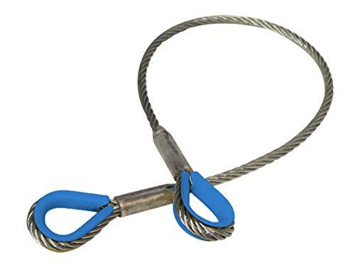!2-Pack! ELLER Stahldraht Anschlagseile 1t / 1000kg - Länge 1.5m - Ohne PVC