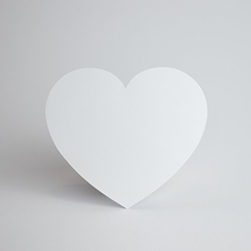 Papierherzen Weiß 100 Stück