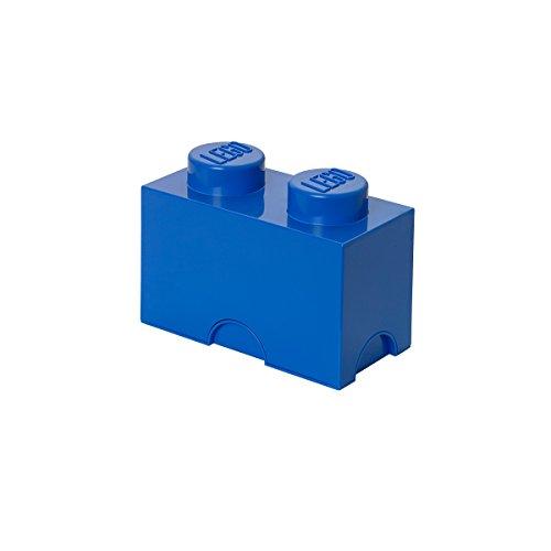 LEGO Contenedor para almacenaje con Diseño de ladrillo 2, plástico, Azul, Medium