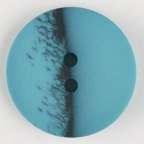 Dill® Bouton de Mode Double Trou 28 mm Vert pétrole
