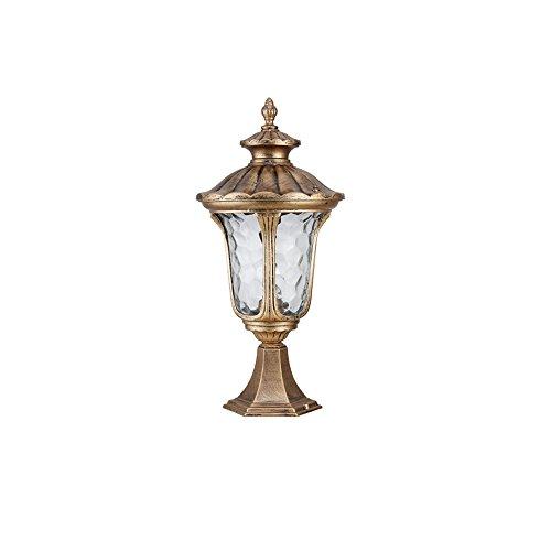 Retro Outdoor Decor Lights Wasserdichte Spalte Kopf Licht Villa Außen Europäische Säule Lichter Für Tür Terrasse Terrasse Terrasse Post Lichter Laterne (Color : Bronze) -