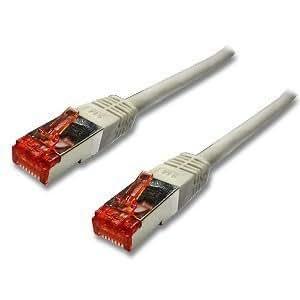 CABLING® Câble réseau RJ45 SSTP Cat 6 - Droit/blindé - 2 métres - Cordon ETHERNET GIGABIT RJ 45 de 2M blindé.