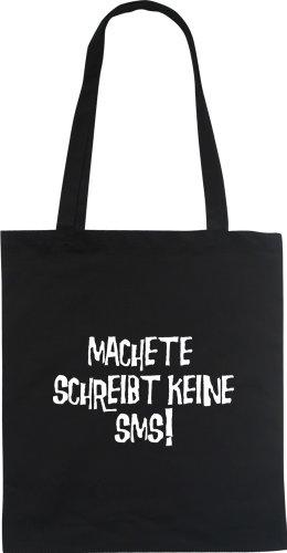 MACHETE SCHREIBT KEINE SMS Fanshirt Designer Fun Beutel tote bag Baumwolltasche WIZUALS Weiß
