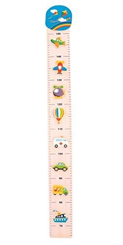 Bieco 74092172 - Messlatte Verkehr für Kinder von 66 cm bis 1,50 m