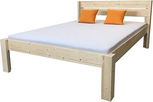 LIEGEWERK Seniorenbett Bett Holz erhöhtes Massivholzbett Holzbett, hergestellt in BRD mit Kopfteil 90 100 120 140 160 180 200 x 200cm Designbett (120cm x 200cm) -