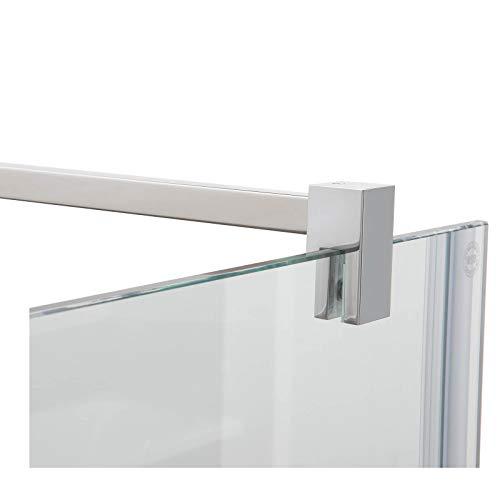 Stabilisierungsstange für Duschen, Glas-Wand eckig, Stabilisationsstange Duschwand, Chrom (100cm)