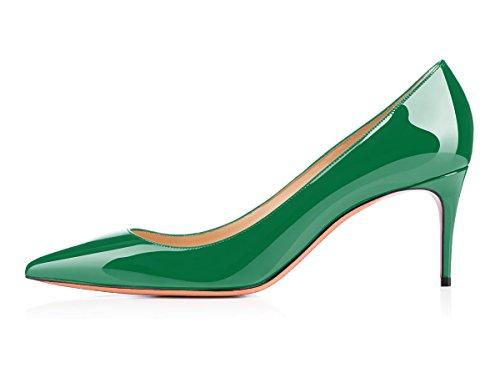 uBeauty Scarpe da Donna - Scarpe Col Tacco - Classiche Scarpe Col Tacco - Tacco a Spillo - 65 mm con Tacchi Alti Verde