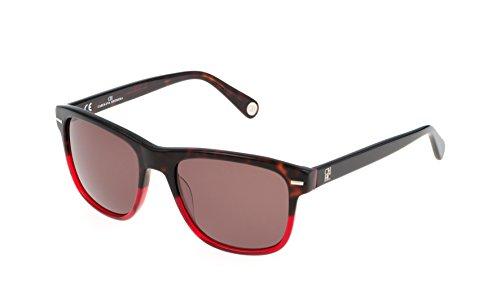 Carolina herrera she608540897, occhiali da sole donna, rosso (rojo), 54