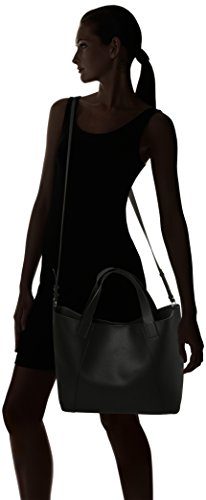 Dorothy Perkins Damen Lead in Shopper Schultertasche, 46x28x13.5 centimeters Schwarz (Black)