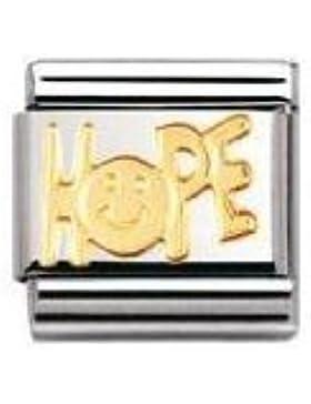 Nomination Composable Classic SCHRIFTZUGE Edelstahl und 18K-Gold (HOPE) 030107