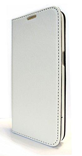 Premium Qualitäts Bookstyle Handytasche Flip Case Wallet weiß für