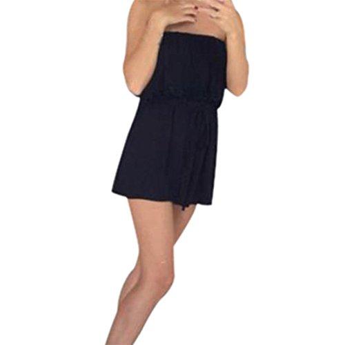 Price comparison product image Women Jumpsuit, Womens Holiday Casual Mini Playsuit Ladies Jumpsuit Summer Beach Rompers (L,  Black)