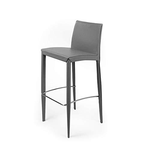 Chde sgabello da bar bar chair- con schienale seggiolone bar sgabello casalinghi soft case loft sedia chrome poggiapiedi sgabello (color : gray)