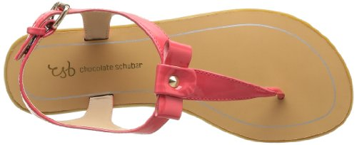 Chocolate Schubar Eira, Sandales femme Rouge (Coral)