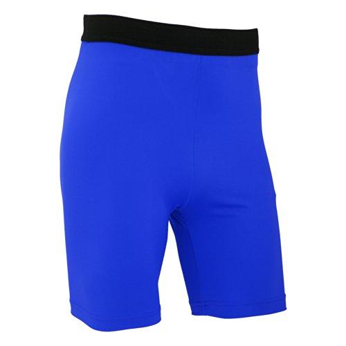 FLOSO - Leggings Corti da Sport - Uomo Blu reale