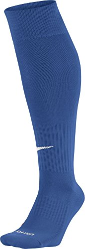 Nike Unisex Classic Dri-Fit- Smlx Fußballsocken Fußballsocken Knee High Classic Football Dri Fit, Blau (Varsity Royal Blue/White), M (Jersey Replica Blue)