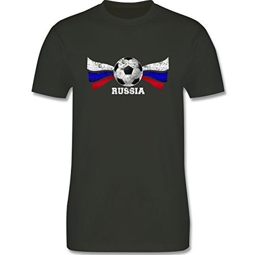 EM 2016 - Frankreich - Russia Fußball Vintage - Herren Premium T-Shirt Army Grün