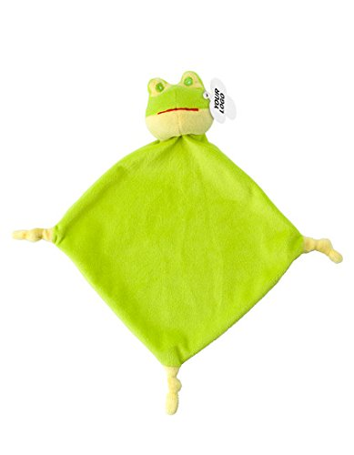 Schnuffeltuch Frosch| Kuscheltuch | Trösterchen | für Jungen und Mädchen | waschbar