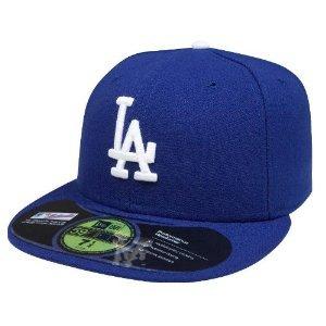 New Era Herren Caps / Fitted Cap Authentic Performance Low Crown LA Dodgers blau 7 1/2 - (Crown Hüte Low)