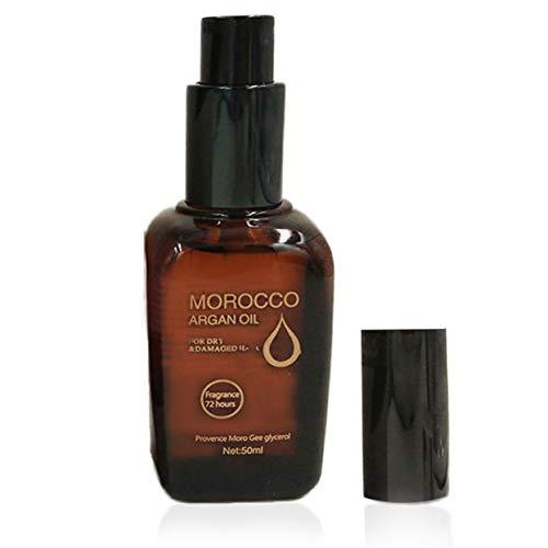 50 ml Huile de noix d'argan pour cheveux secs et abîmés 100% pure Essence Huile d'entretien Cheveux à l'huile de traitement du cuir chevelu Cheveux Nutrition Care