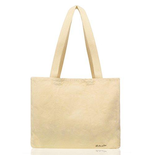 Alle Baumwolle und Leinen - Leinwand-Tragetaschen-Weiß Einkaufstasche(35x43x12cm) Schwerlast,Lebensmittelgeschäft-Einkaufstasche