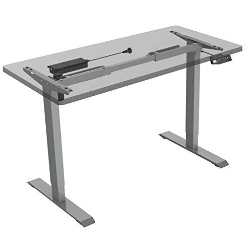 Flexispot E1S Höhenverstellbarer Schreibtisch Elektrisch höhenverstellbares Tischgestell 3-Fach-Teleskop, mit Memory-Steuerung (Grau) -