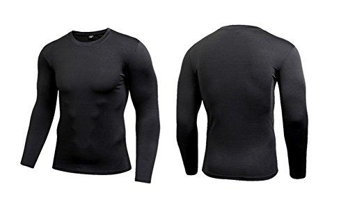 ab32de30e83b8 YUCH Les hommes manches longues Vêtements serrés l'entraînement fitness  Clothes sweat shirt T Shirt