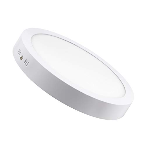 Panel LED circular de 24w luz blanco frío