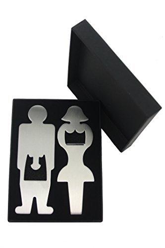 Pomo y Knockers, conjunto de 2acero inoxidable unique sexy abrebotellas & caja de regalo. Regalo perfecto para cumpleaños, soltero/insignias para fiestas, bodas y otras ocasiones especiales.