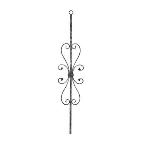 Fenau   Zierstab   Länge: 900 mm   Material: 12x12 mm   glatt   Stahl (Roh) S235JR