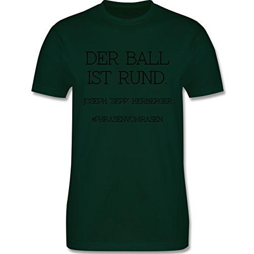 EM 2016 - Frankreich - Der Ball ist rund - Herren Premium T-Shirt Dunkelgrün