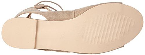micro Sandalen look suede Natural natural sandal 2206 La leather Beige Damen Offene Strada O8gnTqPTC