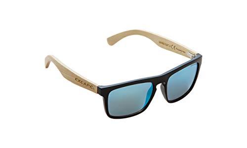 NOBLEND Bambus Freizeit Sonnenbrille aus Bambus. UV400 Schutz - Polarisiert - Blau/Orange oder Grün Verspiegelt! Unisex für Sie und Ihn - Qualität & Lebensgefühl - BLAU