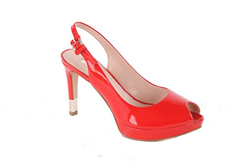 GUESS Donna Scarpe col Tacco sandali con il cinturino Rosso Rosso