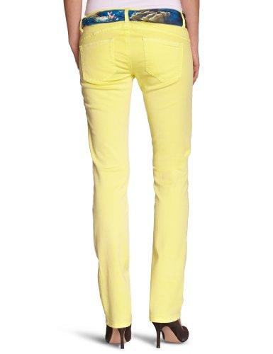 Freesoul Damen Jeans P71113 Skinny / Slim Fit (Röhre) Hoher Bund Gelb (Yellow)