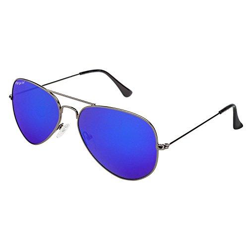 Elegante Aviator Unisex Sunglasses(Avtgnmblumer|59|Blue)