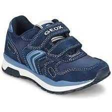 285e3dffb99c8 Image Unavailable. Image not available for. Colour: Boys Geox J Pavel A  Nylon + Suede Navy Trainers 3