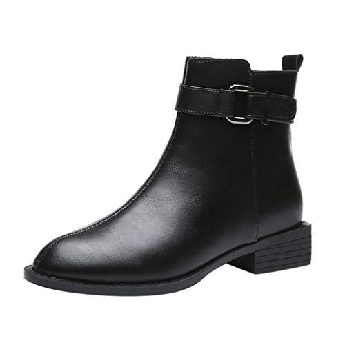 Sanahy Ankle Boot Chelsea Boots Damen, Warme Winterschuhe Fashion Zip Closure 3 - Basic 35 Pizzaofen